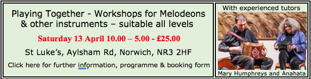Melodeon workshop day